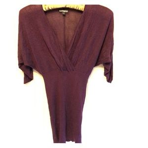 Express top XS/S in a plum purple